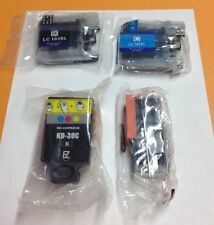 Lot Of 4 Assorted Ink Cartridges, Black, Cyan, Blue, Yellow & Red