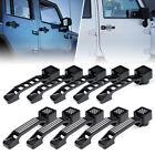Xprite Aluminum Exterior Outer Door Handles Black for 07-18 Jeep Wrangler JK JKU