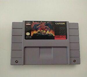Demon's Crest Super Nintendo Entertainment System SNES 1994 Authentic Tested