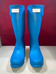 Hunter Rain Boots Original Kids Matte Blue Size 5G/4B US