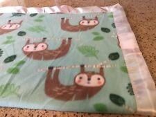 Handmade fleece pet blanket/throw, Sloths!