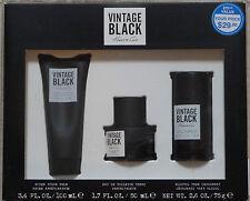 Kenneth Cole Vintage Black After Shave, Eau De Toilette & Deodorant 3-pc Set NIB