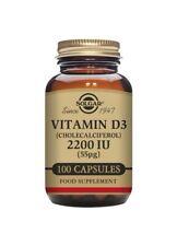 Solgar 2200 UI de vitamina D3 100 cápsulas vegetales Suplemento Alimenticio
