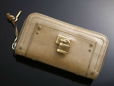 G4074 Authentic Chloe Paddington Cadena Zip-Around Long Wallet