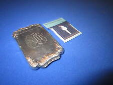C. 1900 TESTED STERLING SILVER SLIM MATCH HOLDER VESTA CASE MATCH SAFE STRIKER
