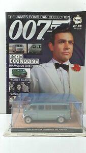 1/43 JAMES BOND 007 DIE CAST FORD ECONOLINE  #108  MAGAZINE
