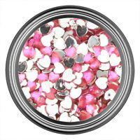 Pink Heart Rhinestone Gems Flatback Face Art Nail Art Jewels Decoration