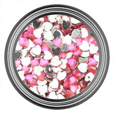 Pink Heart Rhinestone Gems Flatback Face Art Nail Art Jewels Decoration