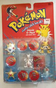 Pokemon Battle Figures - Mewtwo, togepi, alakazam, staryu, seel (Movie Pack)
