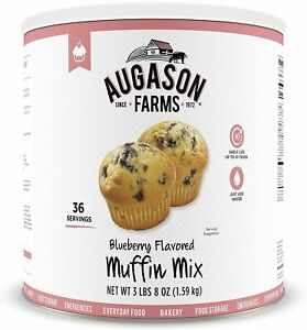 Augason Farms Blueberry Muffin Mix Emergency Survival Baking Dessert Meal Food