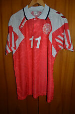 DENMARK NATIONAL TEAM 1992 EURO HOME FOOTBALL SHIRT JERSEY HUMMEL VINTAGE #11
