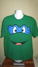 XL L Teenage Mutant Ninja Turtles TMNT Retro Leonardo Blue Bandana Face Shirt