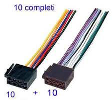 10 pz Cavo connettore ISO autoradio femmina 16 Pin alimentazione 4 altoparlanti