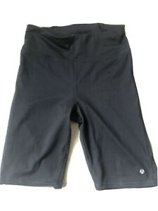 Ladies Black Marks And Spencer M&S Cycling Gym Shorts Size 10 - 2 Pairs