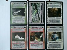 Star Wars ccg 6 M/NM A New Hope-R2-D2, Brainiac, Cell 2187, They're on Dantooine