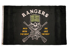 3x5 US Navy Seals Rangers Mess with the Best (Anchor on Hat) Military Flag 3'x5'