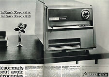 PUBLICITE ADVERTISING 084  1965  RANX XEROX  photocopieur 913 914 ( 2p