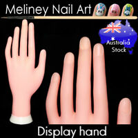 Model Display hand training manicure nail art fake practice finger stand salon