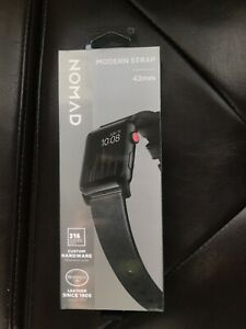 Nomad Modern Leather Watch Strap for Apple Watch 42mm Slate Gray ENM35