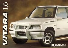 SUZUKI VITARA 1.6 1996-97 UK Opuscolo Vendite sul mercato JX JLX se Estate SOFT TOP