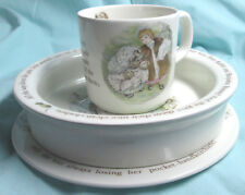 Wedgwood Mrs.Tiggy-Winkle (3) Piece Child's Set, Cup, Bowl, Plate Beatrix Potter