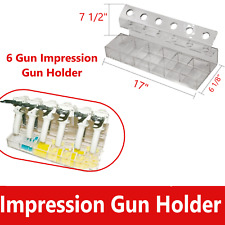 6 Holder Dental Impression Dispenser Gun Mixing Tip Intra Oral Tips Organizer