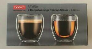 Bodum Professional Line PAVINA Doppelwandige Thermo Gläser / 2er Set 0,25 Liter