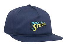 Huf Worldwide Skateboard Cap Snapback Dad Camp Hat Stoops Navy Blazer