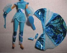 BARBIE DOLL ASIAN KIRA BLUE FLYING HERO OUTFIT CLOTHES/SHOES-100% NEW WINGS/WAND