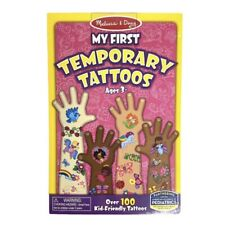 Temporary Tattoos Kids Girls MELISSA & DOUG My First Over 100 Tattoos Ages 3+