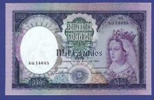 1000 PESCUDOS 1961 UNCIRCULATED BANKNOTE FROM PORTUGAL !!! HUGE VALUE !!!!!!
