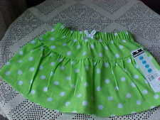 Skort Size 24 Months Brand Max & Mini Green and White Polka Dot New With Tag