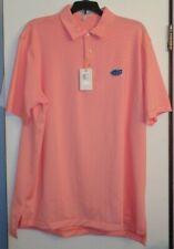 PETER MILLAR FLORIDA GATORS golf casual polo NWT LARGE light orange stripes