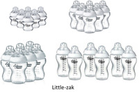 6x Tommee Tippee Closer to Nature Bottles 150ml / 260ml / 340ml Feeding Bottles