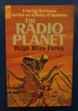 1964 THE RADIO PLANET by Ralph Milne Farley Paperback Ace F312 VG
