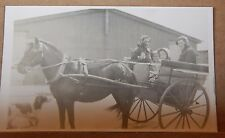Postcard Social history Farming In Wales Horse & Cart Dog RPPC unposted b2