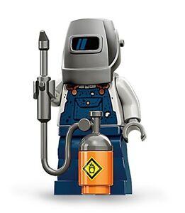 Lego collectible minifig series 11 Welder + welding helmet mask mig tig inverter