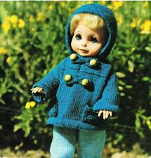 "Dolls clothes knitting pattern for 10,12,&14"" doll. Laminated copy. (V Doll 49)"