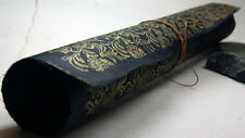 "Handmade Gift Wrapping Paper Sheets Lotka 20"" x 30"" Black Gold Flower Print"