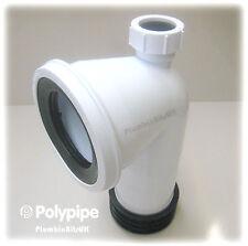 Polypipe sk49 kwickfit WC Bent PAN CONNETTORE 90 GRADI CW 32 mm Adattatore dei rifiuti