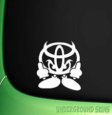 TOYOTA DEVIL MAN  FUNNY CAR STICKER YARIS AVENSIS MR2 HILUX CORROLA STARLET GT