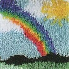 """Rainbow - Shaggy Latch Hook Rug Kit - 12"""" x 12"""""""