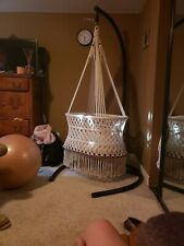 beautiful handmade baby hamock bassinet with stand or hang from ceiling