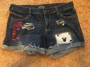 Minnie Mouse Jean Shorts Size Womens 8