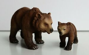 Schleich Grizzlybärin Wild Life 14323 wie neu TOP Zustand und Grizzlybaby 14324