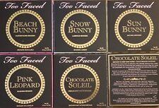 TOO FACED BRONZERS- CHOCOLATE SOLEIL PINK LEOPARD SUN BEACH SNOW  BUNNY *CHOICE*