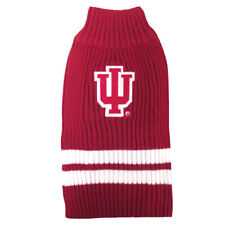 Indiana Hoosiers NCAA Pets First Dog Pet Acrylic Winter Sweater Sizes XS-L