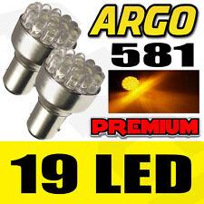 19 LED 581 BAU15S PY21W Offset Clavijas de señal de vuelta Indicador Trasera Ámbar Bombillas 12V