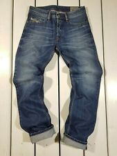 New Diesel Men's Jeans W27 L32 Waykee 0814E Regular Straight Blue Denim