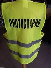 GILET SECURITE FLUO JAUNE PHOTOGRAPHE TAILLE UNIQUE GILET MOTO  SIGNALISATION